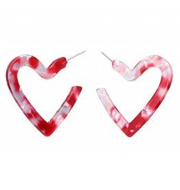 17KM Official Store LALA Acrylic Heart Earrings