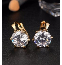 17KM Official Store TIFFANY Crystal Drop Earring