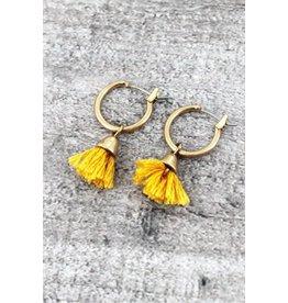 Wholesale Accessory Mart SPUNKY Mini Tassel Hoop Earring (More Colors)