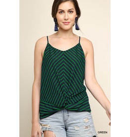 UMGEE SABLE Striped Gathered Tank Top