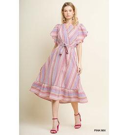 UMGEE WALKER Midi Dress with Back Tie