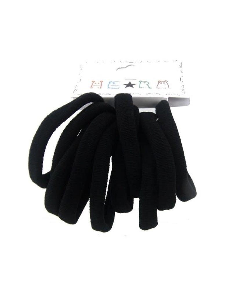 Funteze Accessories ISABELLA Creas Free Black Hair Ties