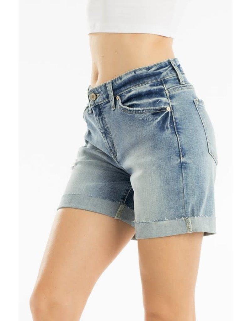 Kan Can ELLA Denim KanCan Cuffed Shorts