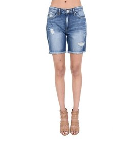 Kan Can ARIA KanCan Fringe Denim Shorts