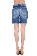 Kan Can ARIA KanCan Fringe Denim Shorts
