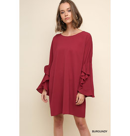 UMGEE SKYLAR Split Ruffle Bell Sleeve Dress