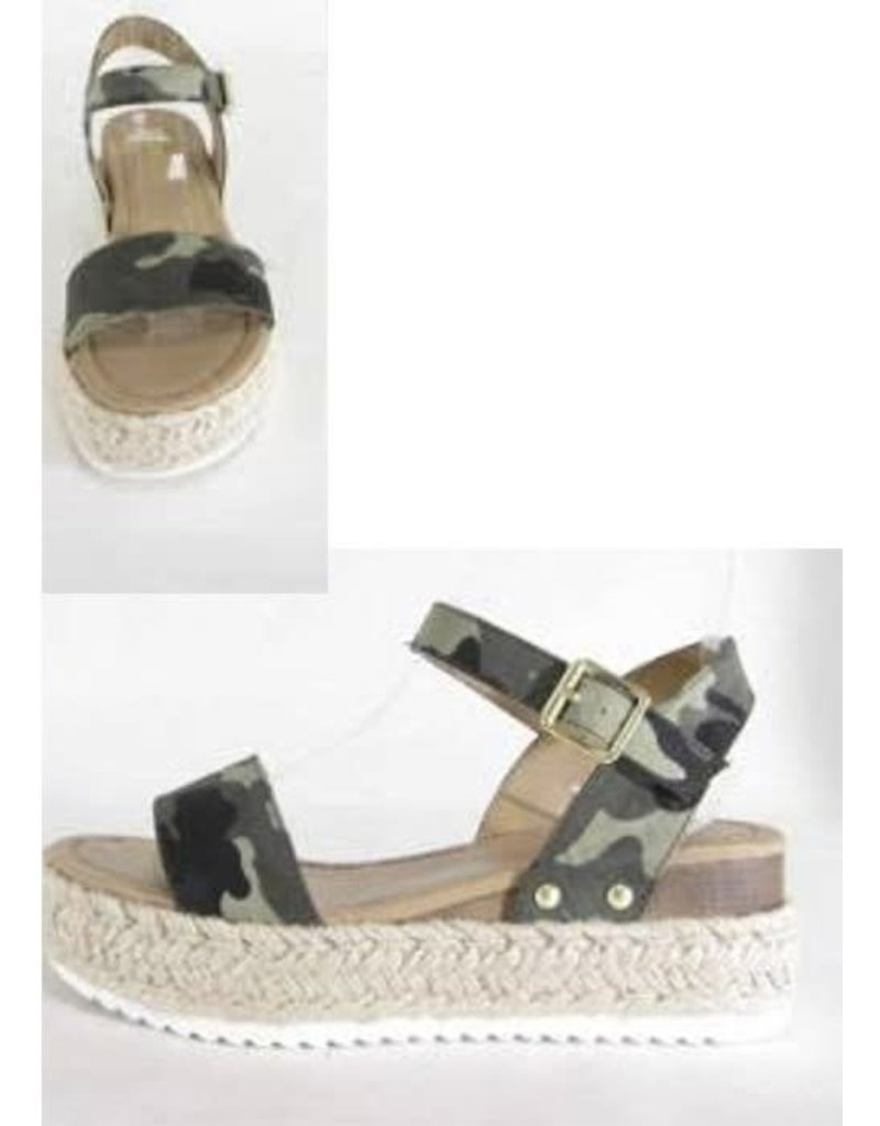 CADENCE Camouflage Wedge Sandals