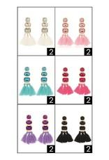 Funteze Accessories FAITH Stone Dangle Earrings Assorted Colors