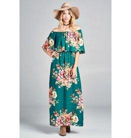 Oddi TRIPP Floral Print Maxi Dress