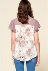 Oddi AMBER Button Down Floral Blouse