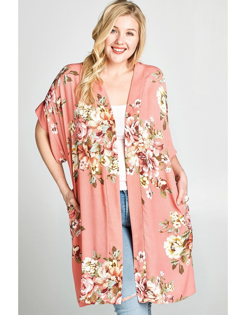 Oddi ELSA Floral Curvy Girl Kimono