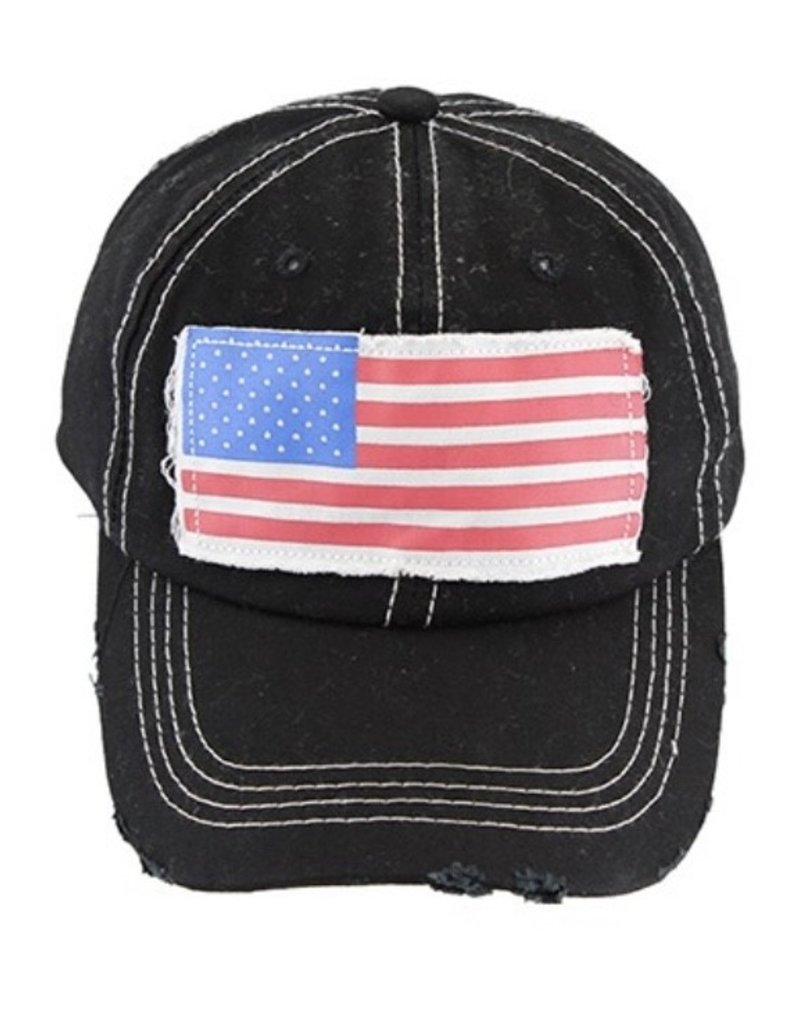 Your Fashion Wholesale PATRIOT Black Flag Hat