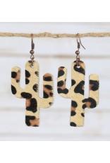 Your Fashion Wholesale CACTUS Leopard Earring