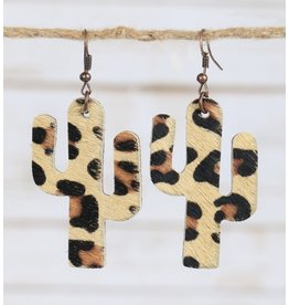 Your Fashion Wholesale CACTUS Leopard Earring