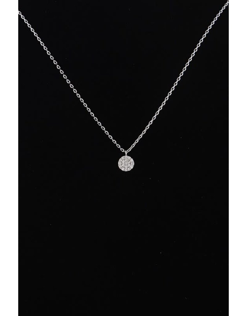KNC MEG Circle Necklace with Crystals