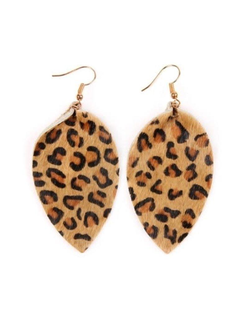 KNC RANGER Cowhide Leopard Earring