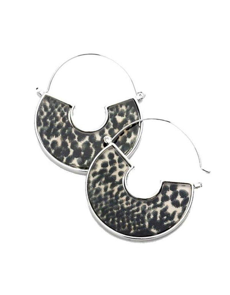 KNC RATTLE Snake Skin Acrylic Earring