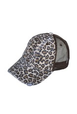 Buck Wholesale WILDCAT Leopard Trucker Hat