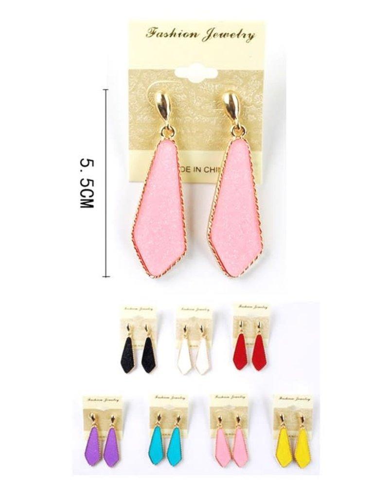 Fuenteze TASHA Druzy Drop Earring (More Colors)
