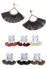 Fuenteze IVY Tassel Earring with Crystals (More Colors)