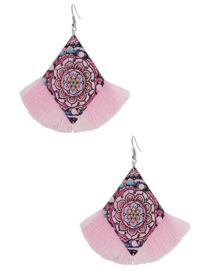 Fuenteze ASHLYNN Wood Tassel Earring (More Colors)