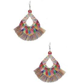 Fuenteze AALIYAH Wood Tassel Earring (More Colors)