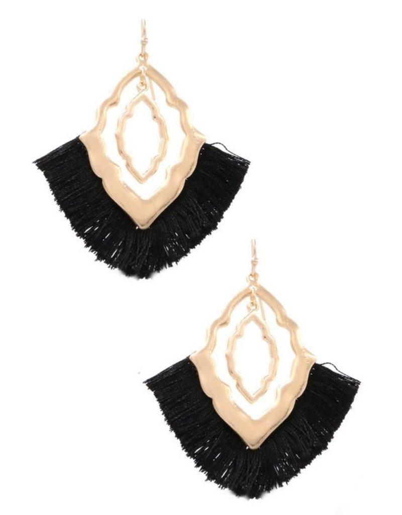 Art Box/KNC DIAMOND Tassel Fringe Earring (More Colors)