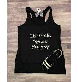 The Ritzy Gypsy LIFE GOALS Racerback Tank