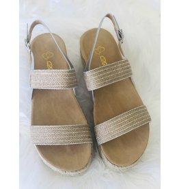 Joia Trading AVERY Metallic Stripe Sandal