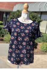 Together Clothing DAISY Navy Floral Top