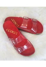 CCOCCI GARNET Clear Strap Sandal