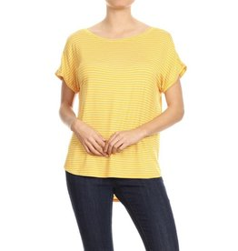 Ginger G EMERY Mustard Striped Top