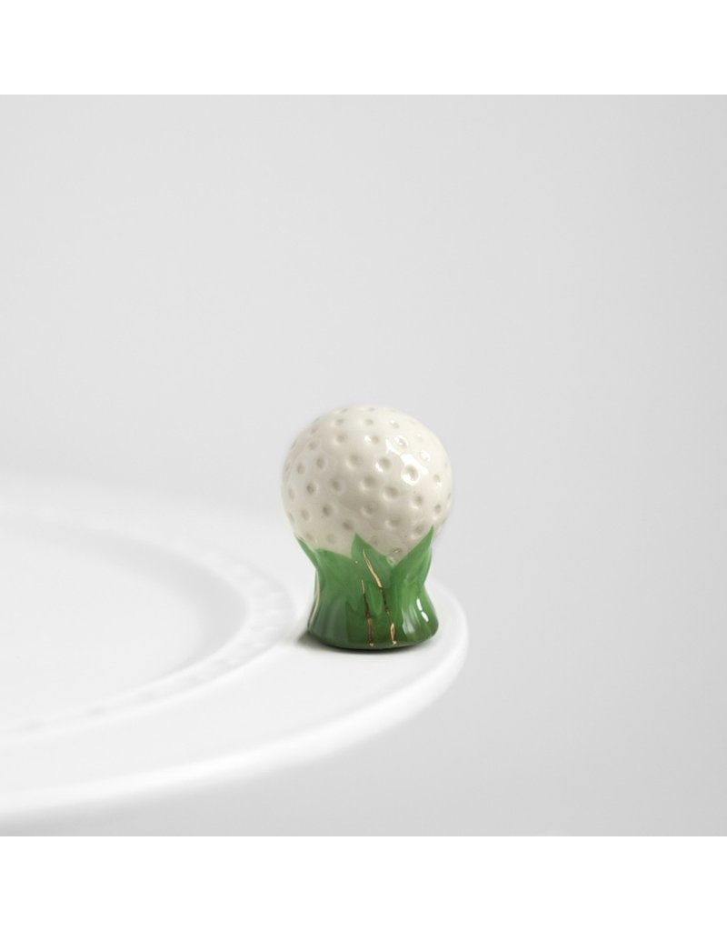 Nora Fleming 19th HOLE Golf Ball Mini by Nora Fleming
