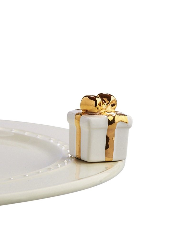 Nora Fleming GOLDEN WISHES Present Mini by Nora Fleming