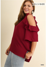 UMGEE SALLY Plus Size Cold Should Blouse