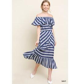 UMGEE ALBANY Maxi Dress with Ruffle Hem