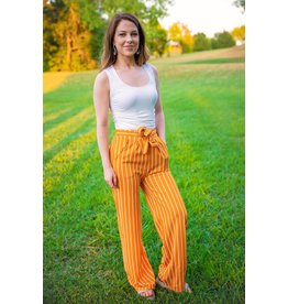 New Mix SANDERSON Striped Pants-Pumpkin
