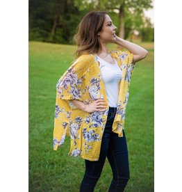 The Ritzy Gypsy CHANNING Mustard Kimono