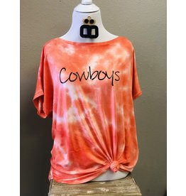 The Ritzy Gypsy COWBOYS Tie Dye Top