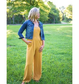 The Ritzy Gypsy KIKI Mustard Jumpsuit
