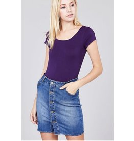 2NE1 Apparrel STANFIELD Body Suit- Purple