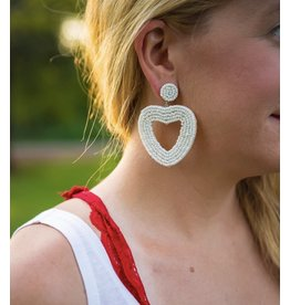 Jujia GLAMOUR Heart Beaded Earring (More Colors)