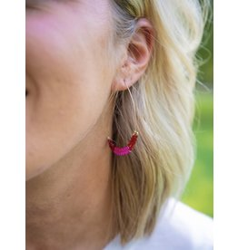 Avenue Zoe/KNC TRINKET Beaded Hoop Earring