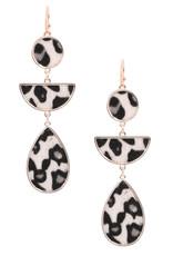 Art Box CAM White Leopard Earrings