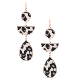 Art Box CAM White Leopard Earrings
