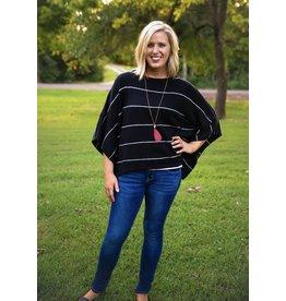 UMGEE JILLIAN Striped Pullover Sweater
