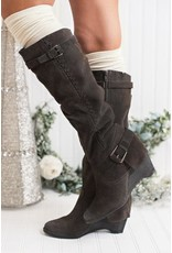 Naughty Monkey DOUBLE UP Suede Tall Boots