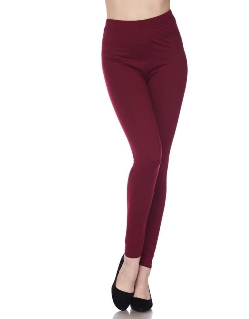 2NE1 Apparrel HARPER Burgundy Leggings