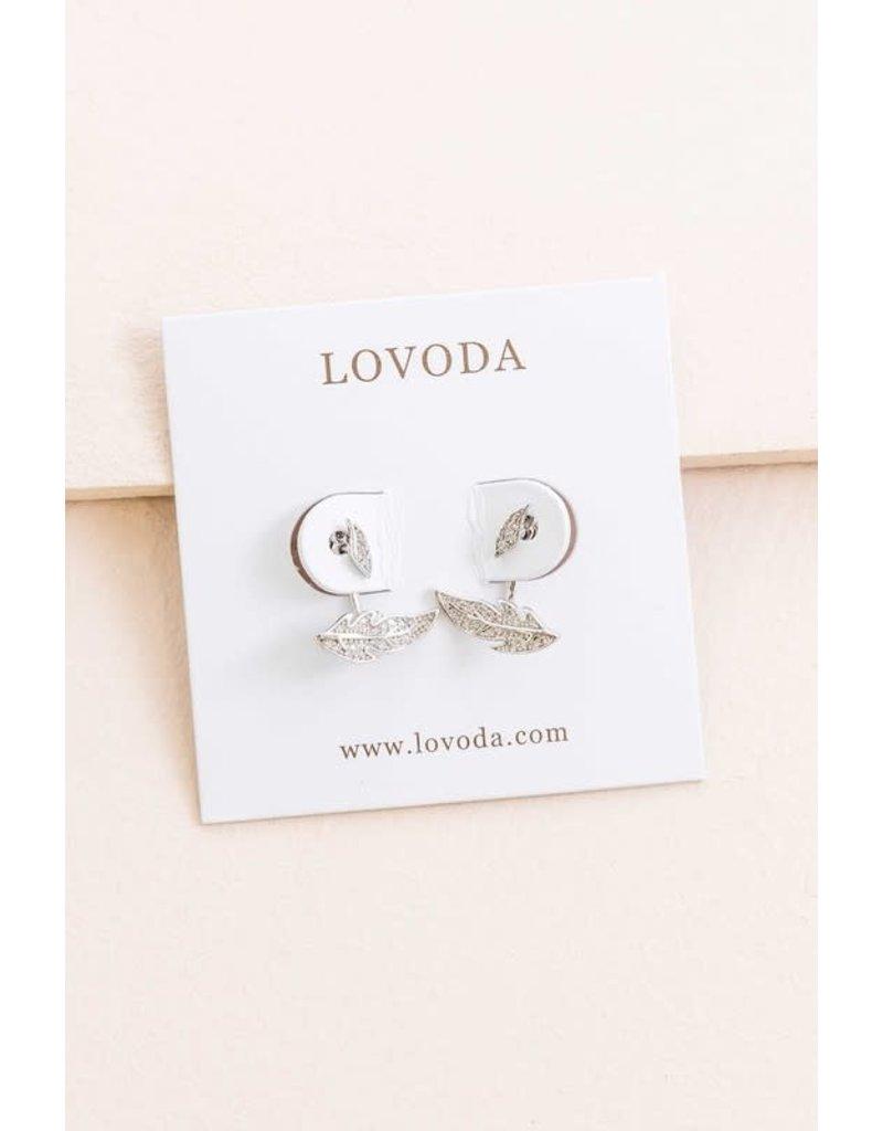 LOVODA AUTUMN Leaf Peek-a-Boo Earring