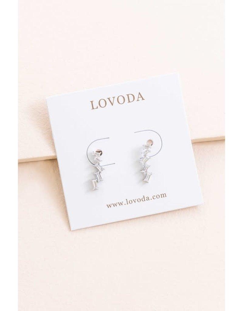 LOVODA MEGS Ear Jacket wit Crystals